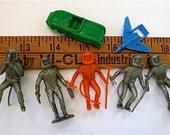 Lot of Small Mid-Century Plastic Toys Space Age