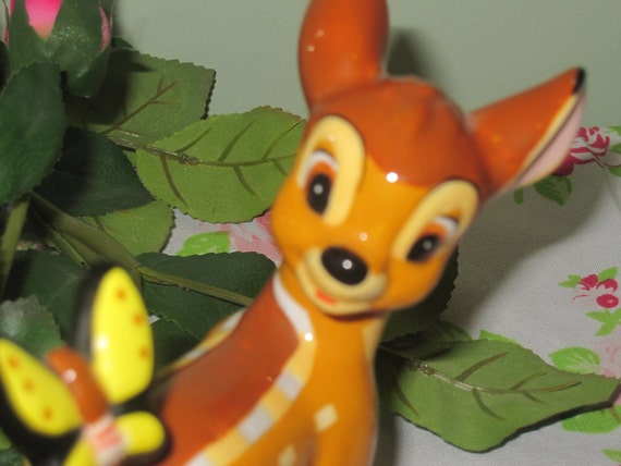 RESERVED for Kristie- Retro Bambi Figurine