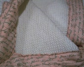Sale - Reversible knit baby tummy time/ travel changing mat - Cottage Garden