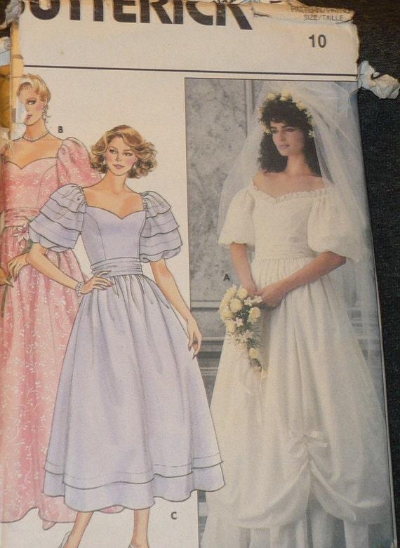 Items similar to butterick 3137 wedding dress bridal gown for Butterick wedding dress patterns
