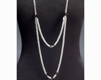 2 strand chainmaille necklace