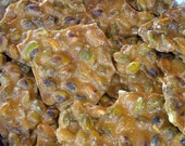 Fathers Day Pistachio Brittle, 1 Lb Hand made, Brittle, Pistachio Brittle, Chocolate Brittle,Wedding Favors, Party favors,bridal showers