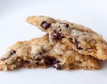 Chocolate Coconut Cookies, 2 Dz hand made , Classic CHocolate Chip cookies with hand Toasted Coconut