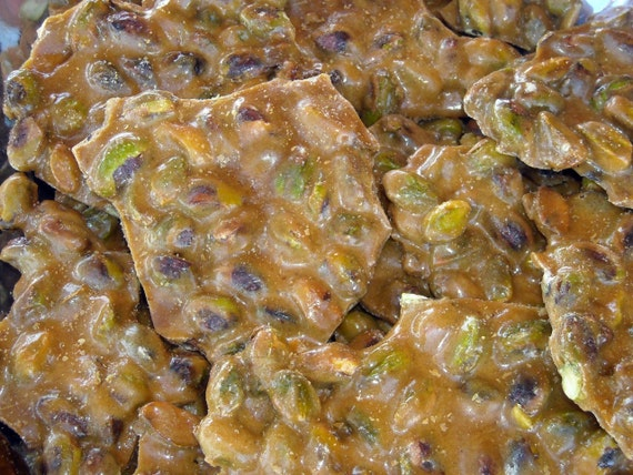 Day Pistachio Brittle, 1 Lb Hand made, Brittle, Pistachio Brittle ...