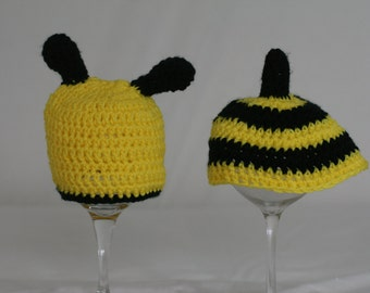 Adorable Bumblebee hat & tushy topper photo prop set