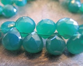 10 Green Onyx Appox 10x8mm Faceted Teardrops, Briolettes