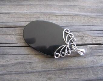 925 Sterling Silver Black Onyx Artisan Pendant