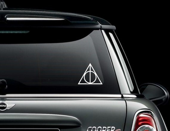Hallows Symbol Decal / Sticker -  Potter Inspired