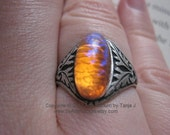 The Black Forest- Vintage dragons breath glass stone ring