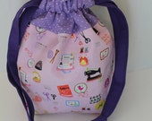Lined Drawstring Bag, perfect for gifts, snacks, small projects