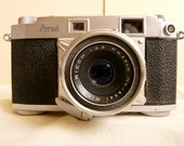 vintage 50's-60's ricoh 500 fixed lens rangefinder 35 mm film camera with rikenon lens