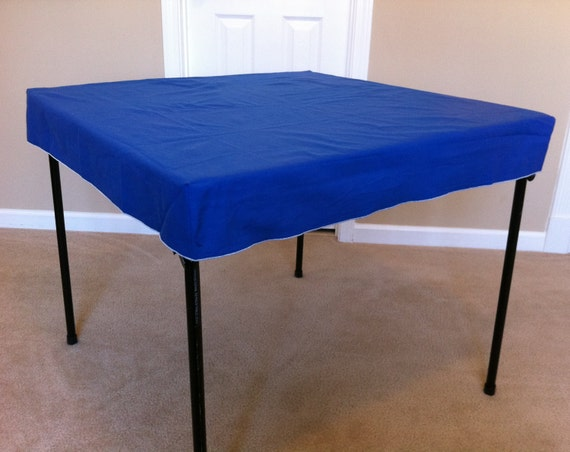 personalized royal blue card table cover