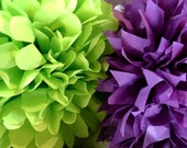 Set of 7 Large Tissue Pom Poms- Your Color Choice