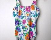 Floral Vintage Swimsuit