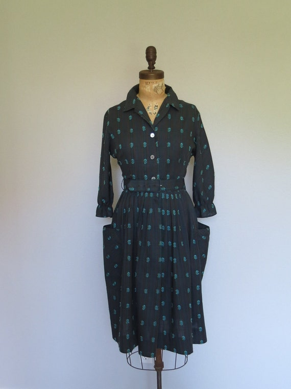 1950s dress / 50s dress size med / Mode O' Day Dress