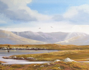 32x12 ins canvas original painting by west of ireland artist CATHAL O MALLEY