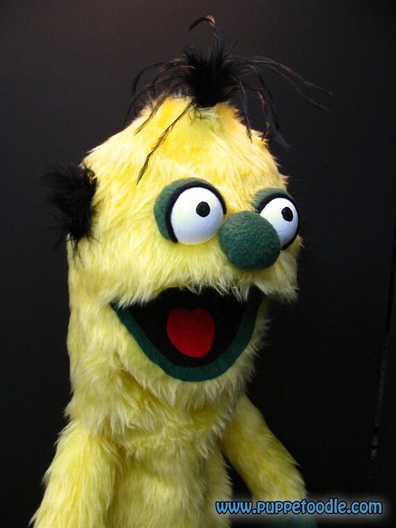 Yellow Monster Hand Puppet (49cm)