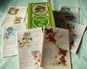 Greeting Cards from Sunshine Line Vintage Children's Get Well