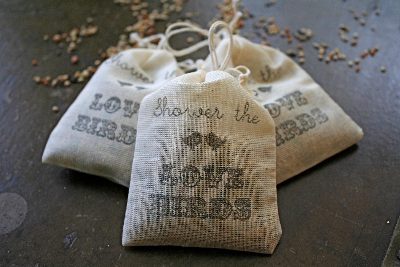 For Jennifer Wedding favor bird seed toss favors. 17 muslin