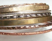 Mixed Metal Bangle Bracelets