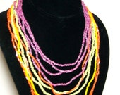 NEON Seed Bead Layer Necklace