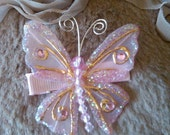 Pink Sparkle Butterfly Clip by Bling Baby USA