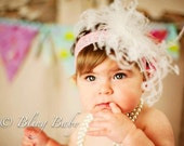 Ostrich Feather Headband by Bling Baby USA