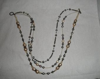 Vintage Pearl 3 Strand Necklace