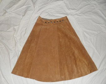 Vintage Suede 70's Leather Wrap Skirt