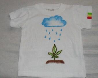 QTees - Rasta wear for babies.  Ganja design