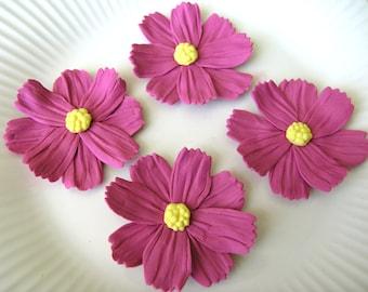 MAUVE COSMOS WILDFLOWERS  / Gum Paste Flowers  / Edible Cake and Cupcake Decorations