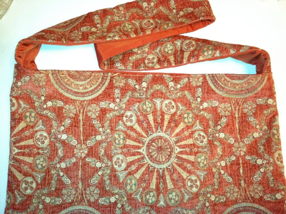 extra large tote bag/ purse for on the go, handmade india boho shoulder bag purse, fabric design sun on bag/purse