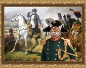Tabby Bengal Cat Fine Art Canvas Print - Observation of the battle