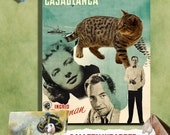 Tabby Cat Fine Art Canvas Print - Casablanca Movie Poster NEW COLLECTION
