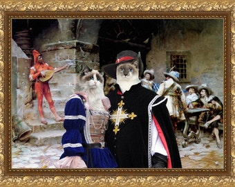 Cat Ragdoll Fine Art Canvas Print - The Minstrels Story
