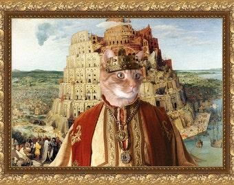 Tabby Cat Fine Art Canvas Print