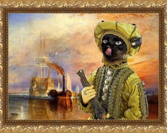 Siamese Cat Fine Art Canvas Print - The fighting Temeraire