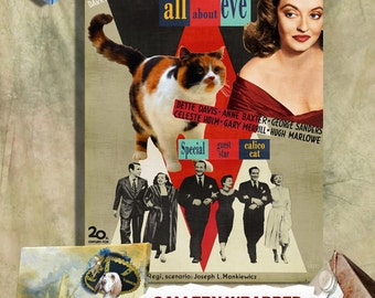 Calico Cat Fine Art Canvas Print - All About Eve NEW COLLECTION