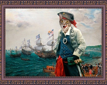 Tabby Cat Fine Art Canvas Print