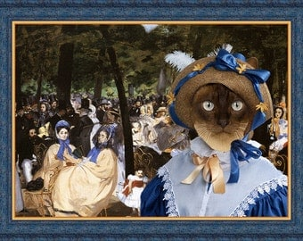 Siamese Cat Fine Art Canvas Print - Music with Tuileries