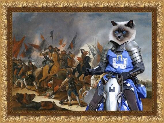 Birman Cat Fine Art Canvas Print - Win or Die