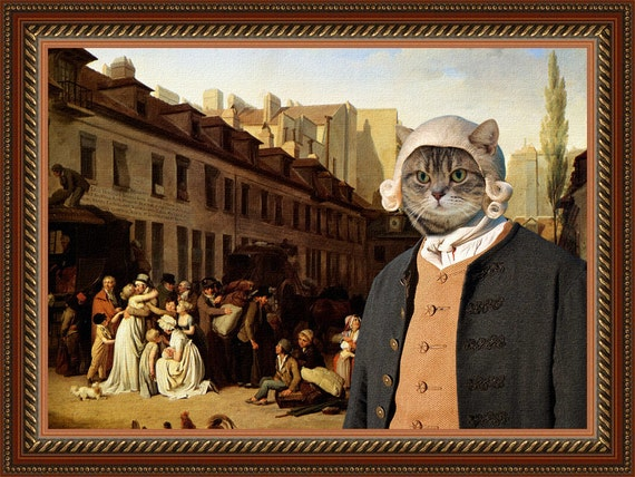 Tabby Cat American Shorthair Fine Art Canvas Print - Bon Voyage