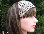 Buff Fleck  Crochet Headband, Hairband for Women and Girls