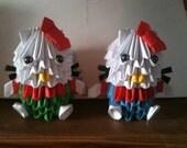 3d origami Hello Kitty