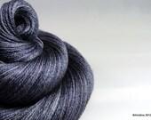 """Handpainted sock yarn - Interstellar Sock """"Nearby Star Cluster in Monochrome"""" 50/50 Merino wool/silk fingering weight yarn"""