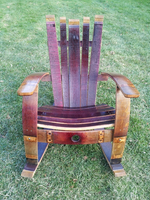 how to build a wine barrel chair