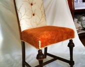 Vintage Dinning Chair Done Funky.  This chair is SOLD