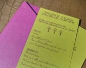 Custom Listing for JOAN -- 15 Invites, Portable Pocket 4x9 Rectangle Bachelorette Party Invitation,  Adorned w/ a Swarovski Crystal