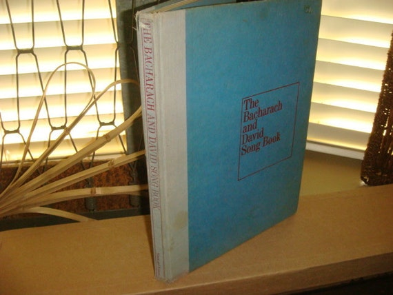The Bacharach and David Song Book 1970 copy Music I say A little Prayer Promises Raindrops &