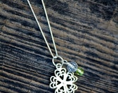 Sterling Silver Clover Charm Necklace